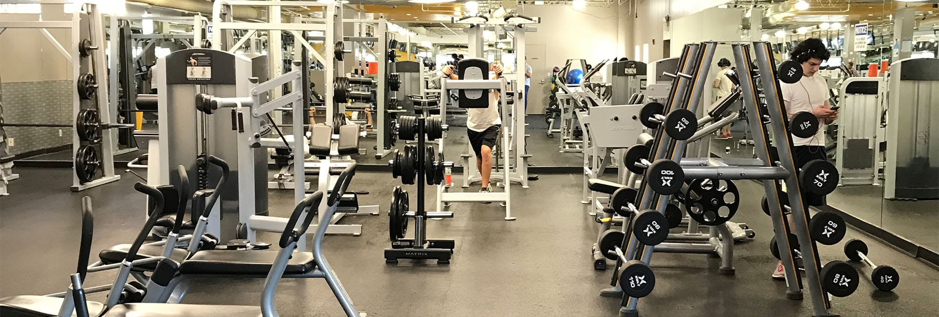 modern gym with state-of-the-art equipment